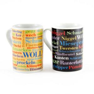Kaffeebecher Sauerländer Wörter und Schimpfwörter (2er Set)
