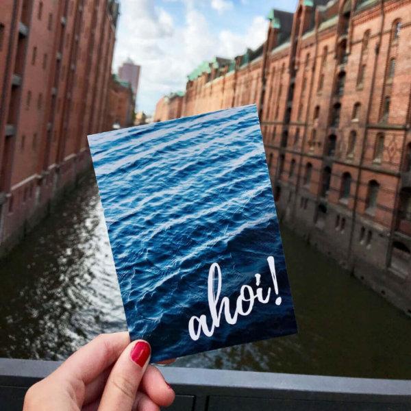 Ahoi! Postkarte Hamburg