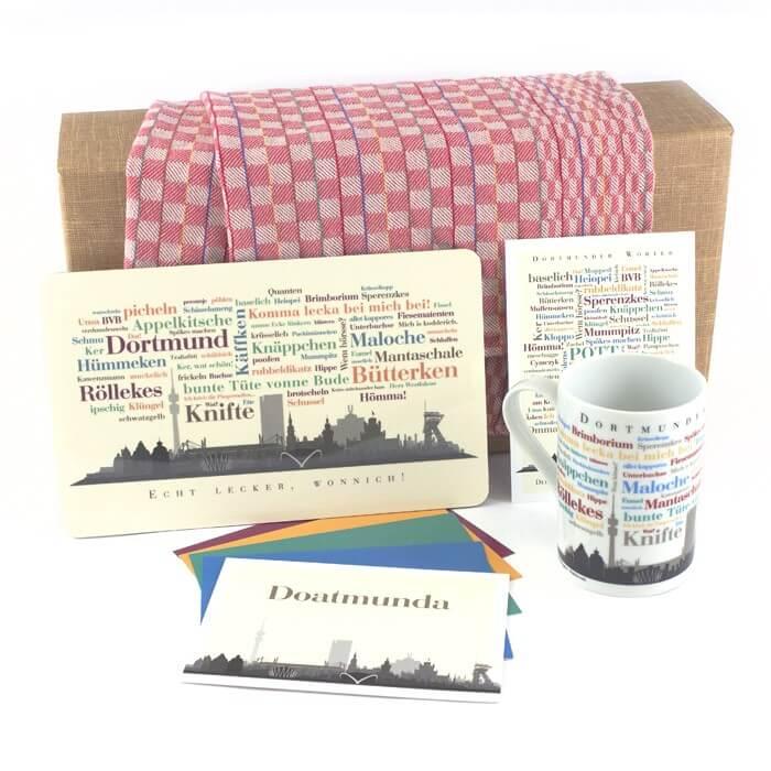 Die Geschenkbox Dortmund für Anfänger mit Geschenkideen aus Dortmund.