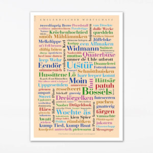 Poster Emsländischer Wortschatz (50x70 cm)