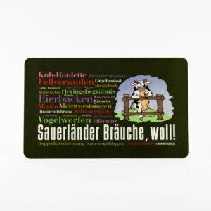 Frühstücksbrettchen Sauerländer Bräuche, woll!