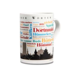 Kaffeebecher Dortmunder Wörter rechte Seite.