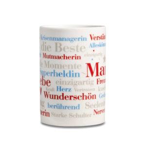 Kaffeebecher Mama Wörter.