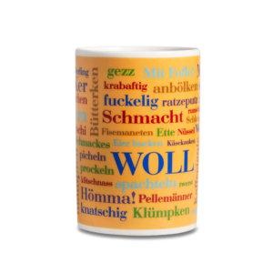 Kaffeebecher Sauerländer Wörter spülmaschinenfest.
