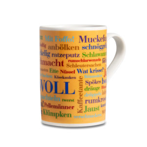 Der Sauerländer Wörter Kaffeebecher WOLL.