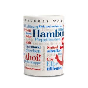 Kaffeebecher - Tasse Hamburger Wörter Frontal