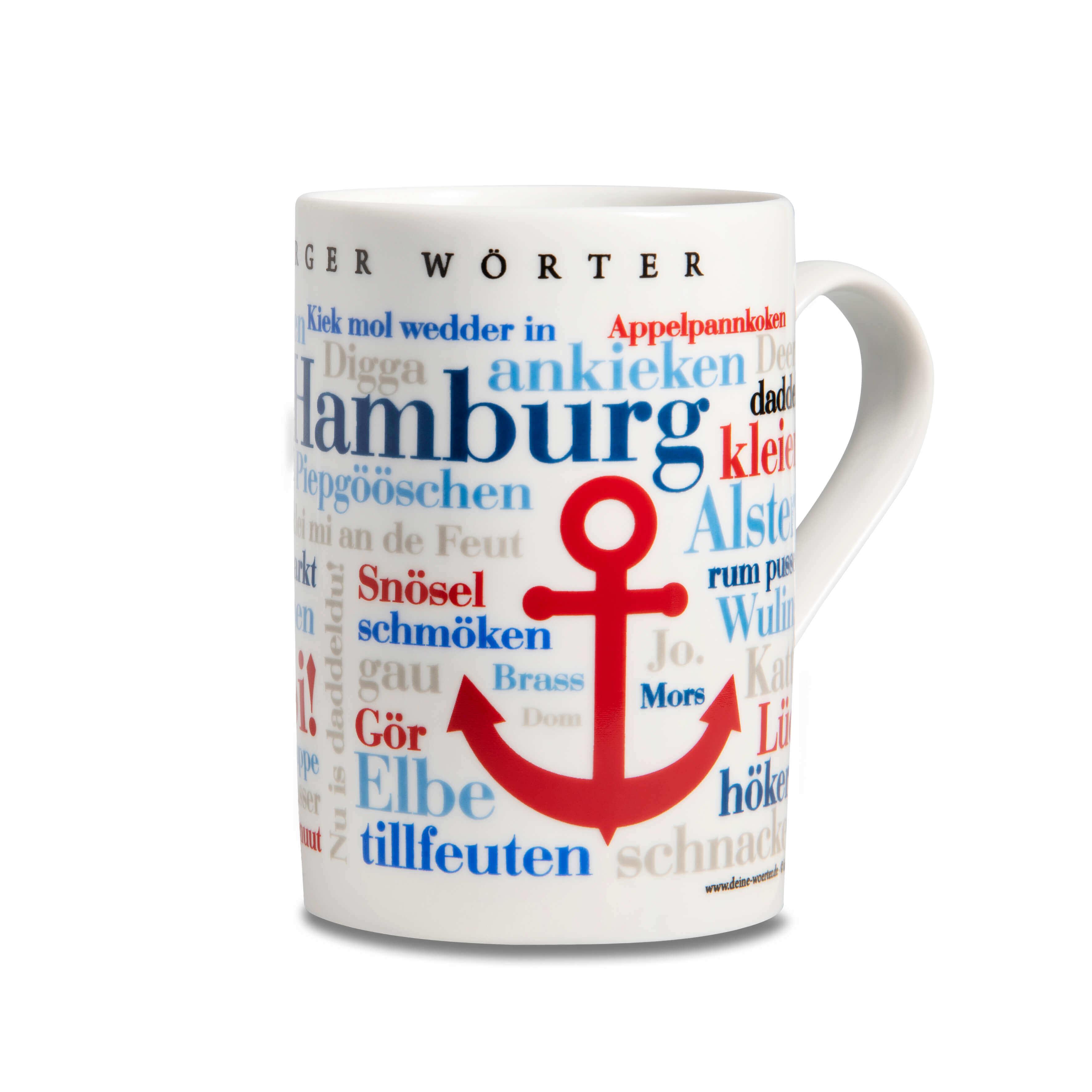 Kaffeebecher - Tasse Hamburger Wörter