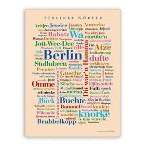 Leinwand Berliner Wörter.
