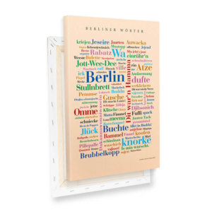 Leinwand Berliner Wörter Keilrahmen.