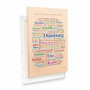 Leinwand Duisburger Wörter