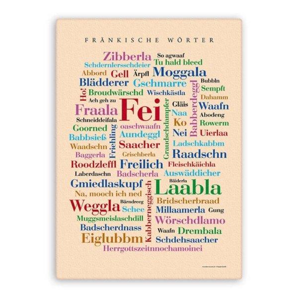 Leinwand Fränkische Wörter.