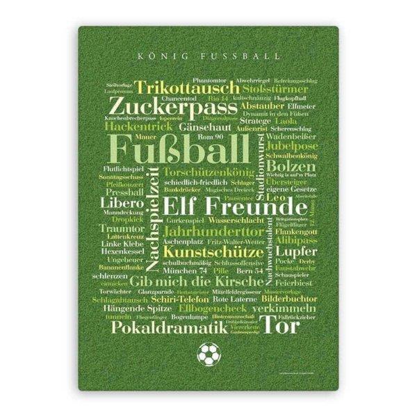 Leinwand Fußball Wörter.