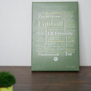Leinwand Geschenkidee für Fussball Fans
