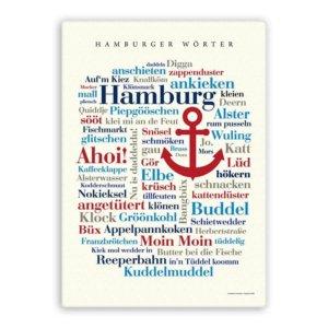 Leinwand Hamburger Wörter.