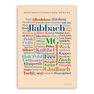Leinwand Mönchengladbacher Wörter.