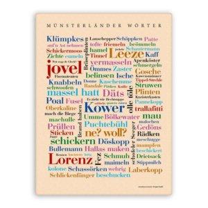 Leinwand Münsterländer Wörter.