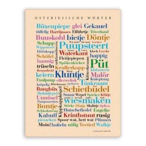Leinwand Ostfriesische Wörter.