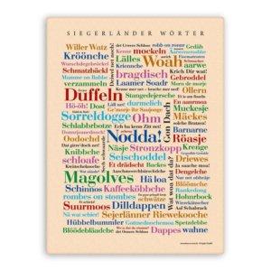 Leinwand Siegerländer Wörter.