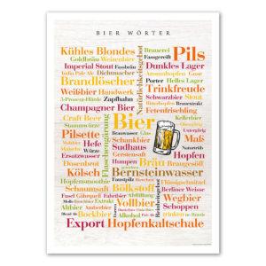 Poster mit den Bier Wörtern.
