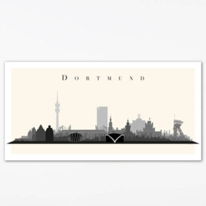 Poster Dortmunder Skyline (100x50 cm)
