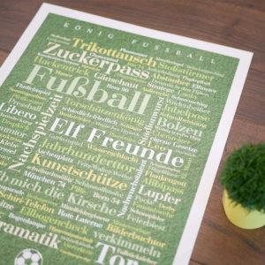 Das Poster mit Fußball Wörtern für Fussball Fans