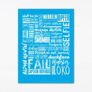 Poster Jugendwörter (45x60 cm)
