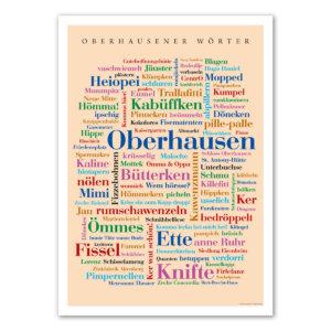 Poster mit den schönsten Wörtern aus Oberhausen.