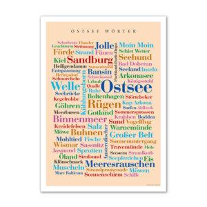 Die schönsten, lustigsten und kreativsten Wörter der Ostsee auf einem Poster vereint.