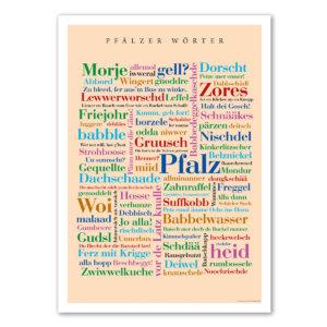 Das Poster mit den schönsten Wörtern aus der Pfalz.
