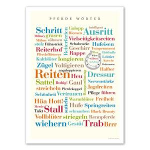 Poster mit den schönsten Pferde Wörtern.