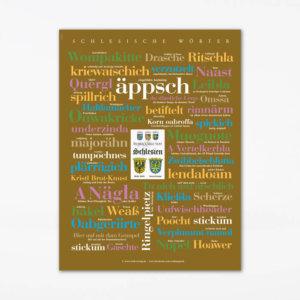 Poster Schlesische Wörter (30x40 cm)