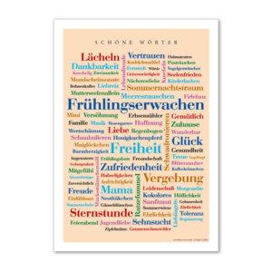 Poster mit den schönsten Wörtern.