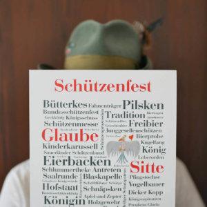 Poster mit Begriffen rund um das schöne Schützenfest