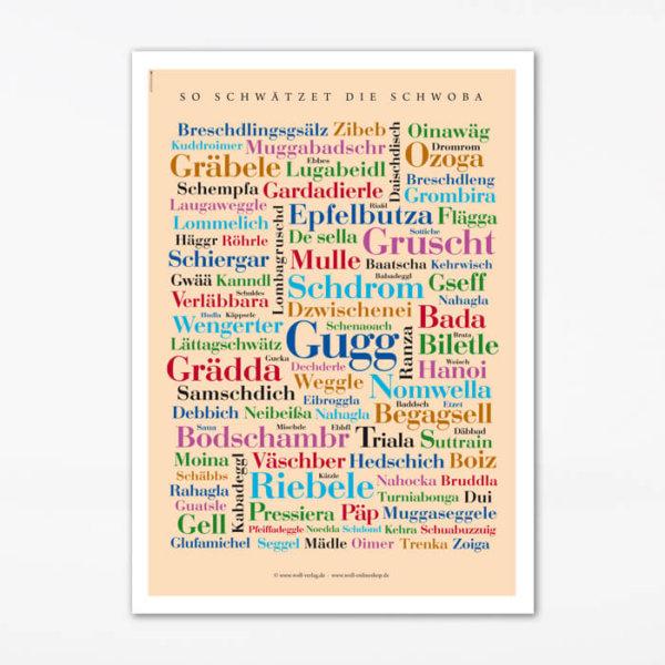 Poster Schwäbische Wörter Schwaben