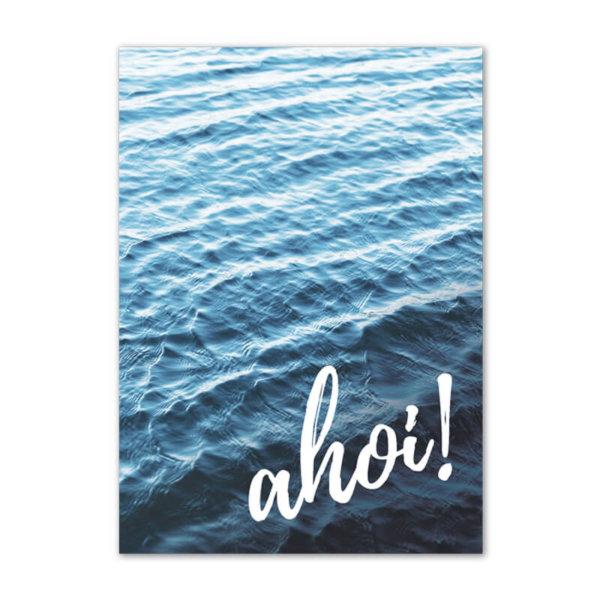 Postkarte (DIN A6) mit Motiv Ahoi.
