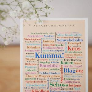 Postkarte Bergischer Dialekt Mundart