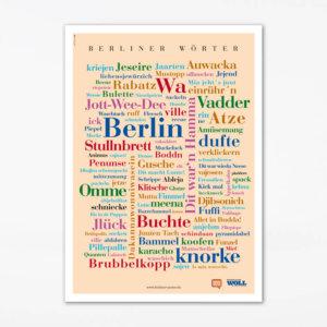 Postkarte Berliner Wörter