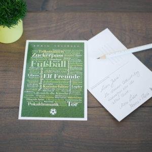 Postkarte für Fußball Fans