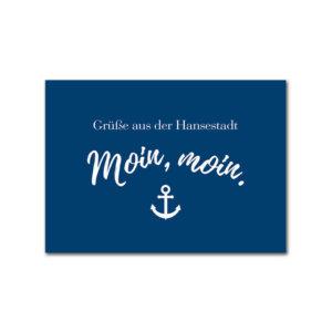Postkarte Hamburg Moin Moin.