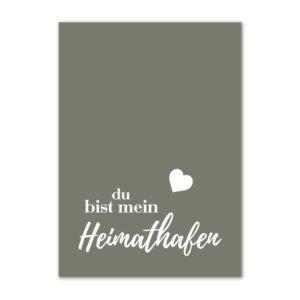 Postkarte (DIN A6) mit Motiv Heimathafen.