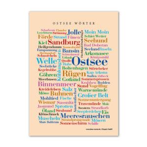 Die Postkarte mit den schönsten Wörtern der Ostsee.