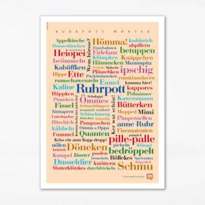 Postkarte Ruhrpott Wörter