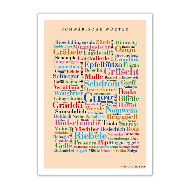 Postkarte Schwäbische Wörter (DIN A6) - Deine Wörter