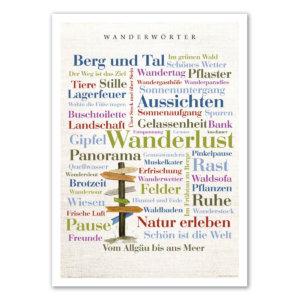 Die Postkarte Wanderwörter.