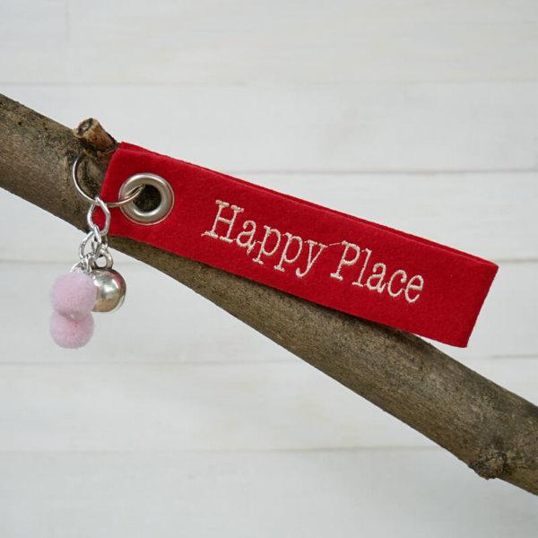 Schlüsselanhänger mit Motiv Happy Place.