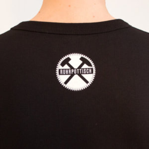 Das T-Shirt Komma auffen Punkt! für Damen aus dem Ruhrgebiet.