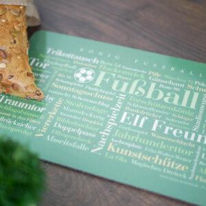 Frühstücksbrettchen für Fußball Fans - schöne Geschenkidee