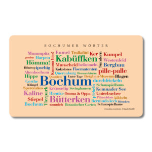 Frühstücksbrettchen Bochumer Wörter.