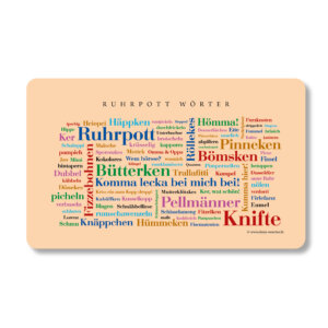 Frühstücksbrettchen Ruhrpott Wörter