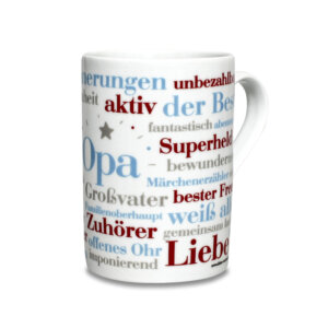 Die Kaffeetasse Opa Wörter.